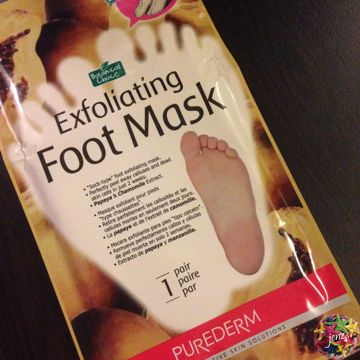 Review: Purederm Botanical Choice Exfoliating Foot Mask